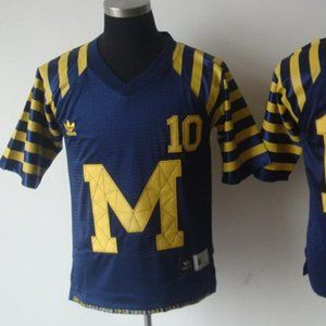 Youth Michigan Wolverines 10 Throwback Navy Jersey